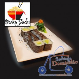 Temakis Osaka Sushi Bar Aguacate  Con queso crema, salmón y aguacate